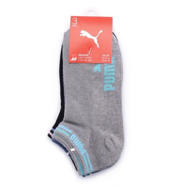 PUMA FASHION 字樣踝襪 三雙組 混款 BB1183-01 鞋全家福