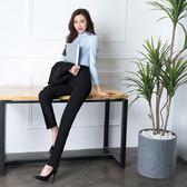 618好康鉅惠西裝褲女式黑色工作褲高腰直筒正裝褲顯瘦