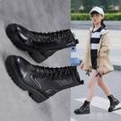 女童鏤空靴子2021新款夏季網面兒童馬丁靴中大童網紅羅馬軟底短靴 一米陽光