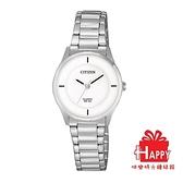 CITIZEN星辰 簡約女生時尚三針腕錶 ER0201-81B 銀