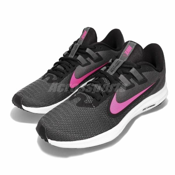 Nike 慢跑鞋 Wmns Downshifter 9 黑 粉紅 白 女鞋 運動鞋 基本款 【PUMP306】 AQ7486-002