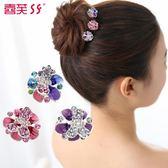水鑽小號 韓國髮飾品頭飾 釉彩盤夾劉海髮夾LY1648『愛尚生活館』