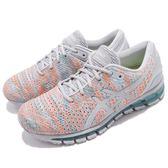 Asics 慢跑鞋 Gel-Quantum 360 Knit 2 灰 橘 二代 針織鞋面 全腳掌亞瑟膠 女鞋【PUMP306】 T890N-9609