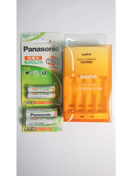 全館免運費【電池天地】SANLUX 三洋智慧型充電器 SYNC-N01 +國際牌 EVOLTA 低自放充電池3號+4號/4顆