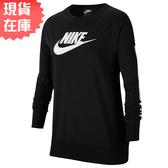【現貨在庫】Nike Sportswear 女裝 大童 長袖 長T 休閒 黑【運動世界】CJ7435-010