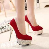 結婚鞋高跟鞋 結婚紅色婚鞋 女 年會 百搭 配宴會禮服鞋 晚禮服 高跟新娘婚紗鞋 酷我衣櫥