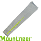 【Mountneer 山林 中性 抗UV反光袖套 淺灰】 11K99/防曬袖套/防曬手套/自行車/機車