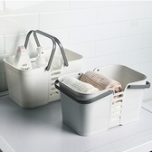 【AOTTO】日系多功能手提置物籃(衛浴收納 日式質感)北歐白