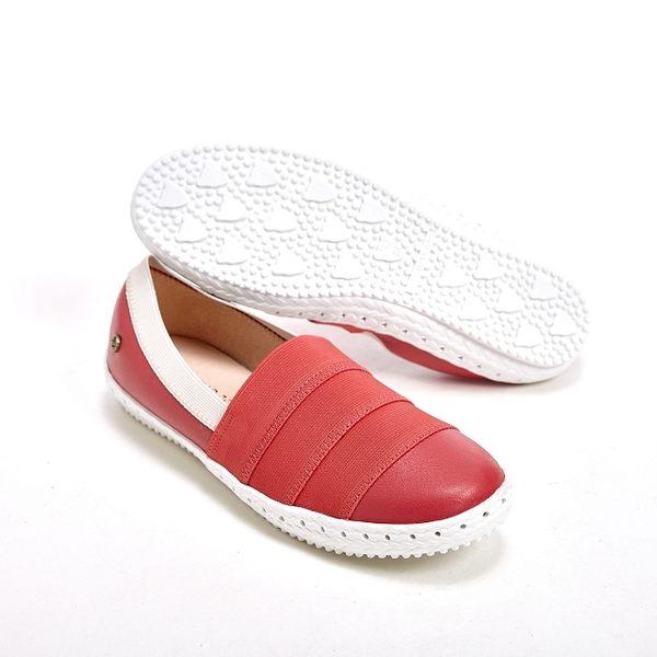 WALKING ZONE 悠閒步伐輕便百搭直套式休閒女鞋-紅(另有黑、銀)