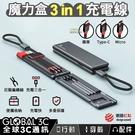 三合一收納充電線 魔力盒 尼龍編織線 Lightning 蘋果 Micro 安卓 Type-C 三星 iPhone
