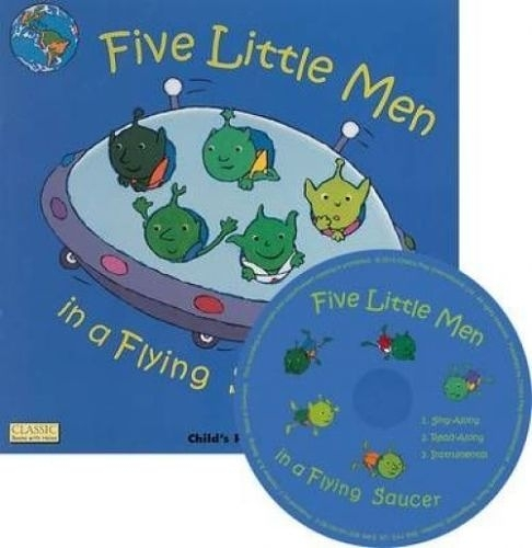 Classic Books With Holes:Five Little Men In A Flying Saucer (With CD) 外星人愛地球 童謠洞洞CD故事書