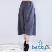 betty's貝蒂思 毛呢質感寬鬆飛鼠褲(灰色)