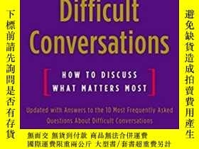 二手書博民逛書店高難度談話罕見英文原版書 Difficult Conversat