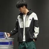 馬切達秋季日系復古青年寬鬆外套潮流連帽運動夾克男士街頭衝鋒衣