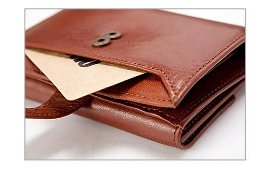 OMC - 原皮魅力真皮款三折式6卡1照中夾