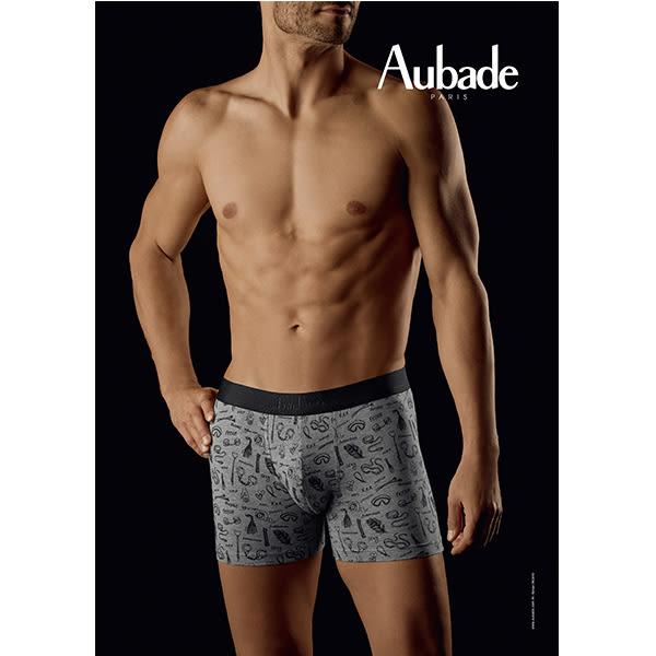 Aubade man-壞男人M-XL舒棉平口褲(皮鞭手銬)
