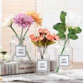 透明花生活花瓶玻璃花瓶背景拍照道具含貼紙