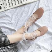 豆豆鞋女冬季2019新款森女繫鞋子平底淺口單鞋綁帶奶奶鞋芭蕾舞鞋【全館免運】