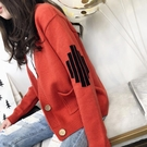 毛衣外套女正韓新品秋裝女裝寬鬆長袖上衣春秋季短款針織開衫