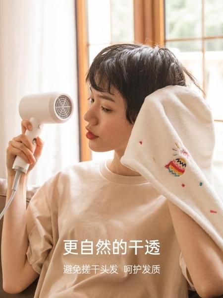 超強吸水加厚可愛速干干發帽 洗擦頭發毛巾女韓國浴帽包頭神器巾魔方數碼