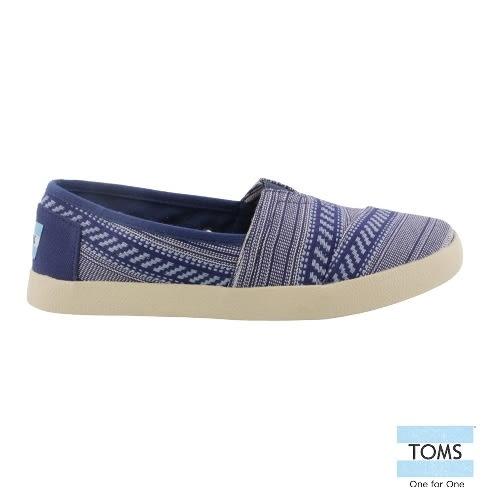 TOMS 橫紋帆布懶人鞋-女款(10004956   INK)