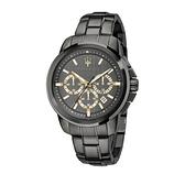 【Maserati 瑪莎拉蒂】SUCCESSO刷紋面盤設計三眼日期錶-霧感灰/R8873621007/台灣總代理公司貨兩年保固