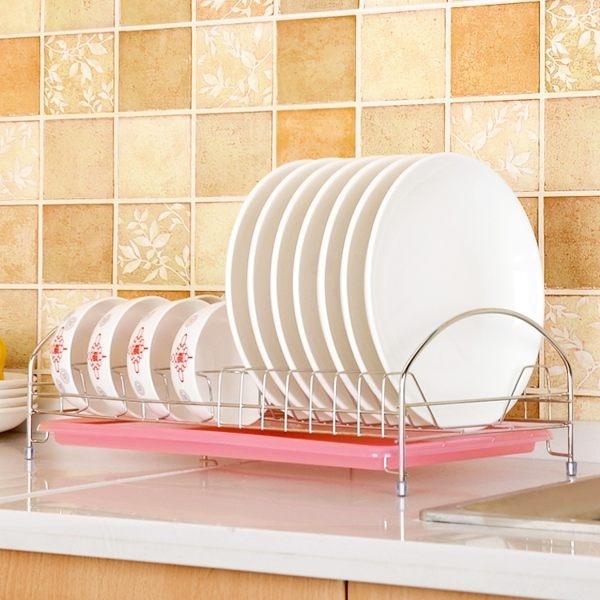 不鏽鋼色單層碗架 廚房置物架 收納碗碟架碗盤子架 瀝水架 濾控水架