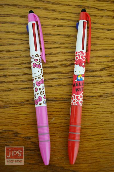 Hello Kitty 凱蒂貓 自動鉛筆 多功能筆 三色筆 觸控筆 白色 紅色