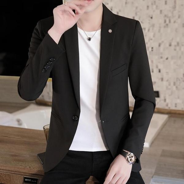 小西裝男士新款韓版修身潮流七分袖單西外套夏季休閒帥氣西服套裝 酷男精品館