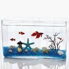 ⭐星星小舖⭐ 造型 玻璃魚缸 長方形 S形可加購 魚缸LED燈 USB LED燈【FI103】
