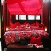 婚慶床上用品 漢尚家居婚慶床上用品結婚四件套全棉套件八件套大紅1.8m2.0m床 珍妮寶貝