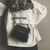 chic包包女潮韓版鏈條百搭小方包時尚簡約漆皮單肩斜挎包 科炫數位