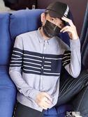2018秋季新款男士長袖襯衫寬鬆港風加絨襯衣韓版潮流寸衫保暖外套 3c優購