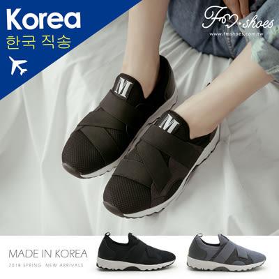 休閒鞋.金蔥拼接繃帶球鞋-FM時尚美鞋-韓國精選.Lazy