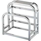 加厚304不銹鋼砧板架刀架加寬菜板架刀座廚房置物架    芊惠衣屋