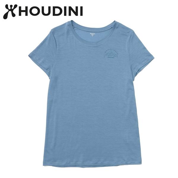 瑞典【Houdini】W`s Tree Message Tee 純藍