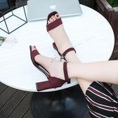 韓版鏤空透氣高跟鞋增高休閒跳舞女鞋低筒學生涼鞋 俏腳丫