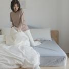 色織水洗棉 素色床包枕套組 雙人【銀灰藍】長絨棉 透氣親膚 mix&match 混搭良品 翔仔居家