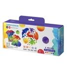雄獅彩虹染屬於顏料型紮染墨水,顏色選擇多、色彩鮮艷,可隨意紮染出繽紛多樣的色彩與圖樣。