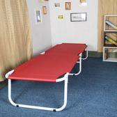 雙層布折疊床辦公午睡午休床單人床帆布床沙灘床簡易加固床XW
