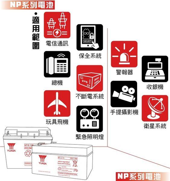YUASA湯淺NP12-12攝影燈光電源.電動玩具產品.測定機器.血壓計.電動椅.循環充電