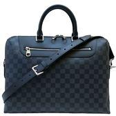 【Louis Vuitton 路易威登】N48260 Jour系列經典Damier印花手提/肩背電腦公事包(黑灰)