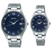 【台南 時代鐘錶 SEIKO】精工 SPIRIT 太陽能鈦金屬對錶 SBPX115J STPX065J 藍/銀