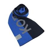 【南紡購物中心】MICHAEL KORS簡寫LOGO雙色圍巾-黑/藍