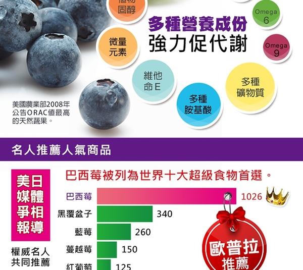 草本之家-豐采巴西莓60粒1瓶