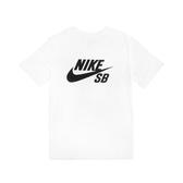 Nike 短袖T恤 SB Dri-FIT Tee 白 黑 男款 短T 運動休閒【ACS】 AR4210-100
