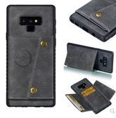 三星 Note 9 手機殼 軟硅膠 商務 錢包 磁釦 磁吸 防摔 全包 翻蓋式 可插卡 支架 保護皮套 個性 新潮