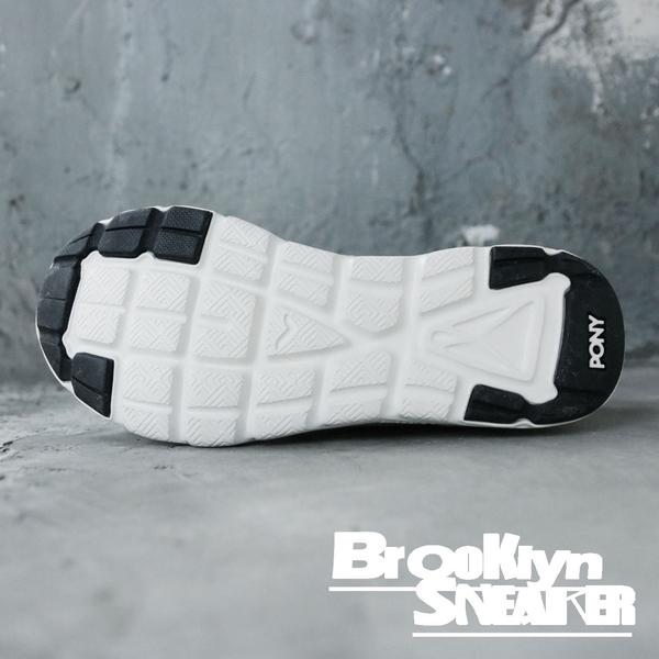 PONY 白黑 輕量 透氣 慢跑鞋 男女 (布魯克林)  63M1ST63OW 63W1ST63OW
