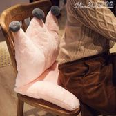 坐墊可愛學生椅子坐墊靠墊一體軟舒適教室韓版座椅墊冬季毛絨家用  曼莎時尚