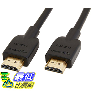 [106美國直購] AmazonBasics 數據線 High-Speed HDMI Cable - 6 Feet (Latest Standard)